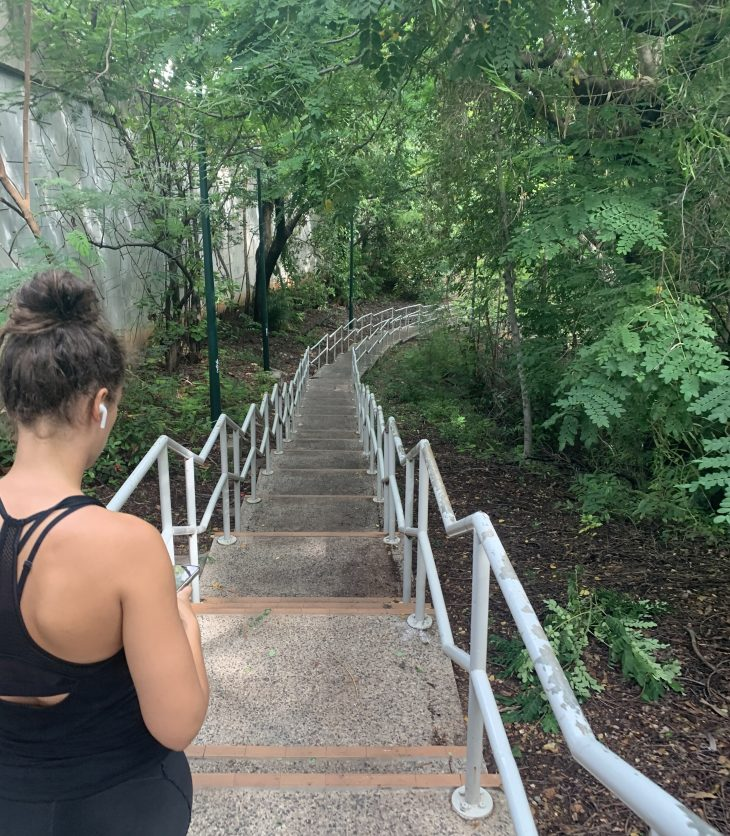 Outdoor Exercise - Deckchair Stairs