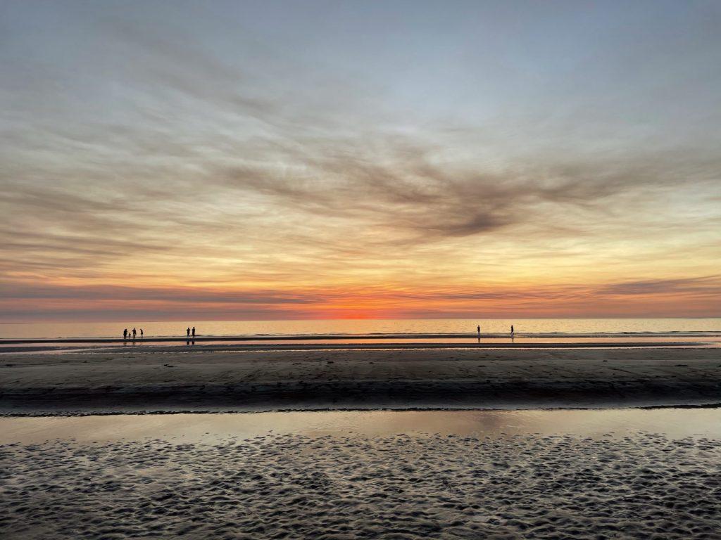 Sunset De la plage